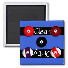 Clean or Dirty Billards Dishwasher Magnet.... http://www.zazzle.com/clean_or_dirty_billards_dishwasher_magnet-147576424957597498?rf=238631258595245556
