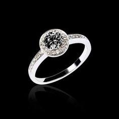 7aedfb3e201 bague diamant noir non traité rekha Bague De Fiançailles Saphir Rose