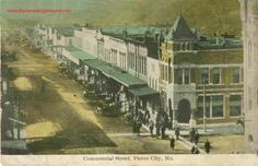 Pierce City, Missouri, Commercial Street, vintage postcard, Historic Photo, Tornado May 4th, 2003, Lawrence County, MO