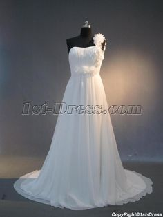 1st-dress.com Offers High Quality Cheap One Shoulder Chiffon casual Wedding Dresses for Spring IMG_3973,Priced At Only US$179.00 (Free Shipping)