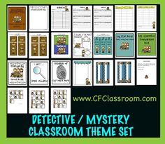 Detective / Mystery Themed Classroom