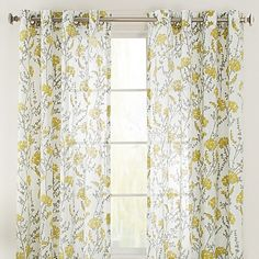 Bethany Grommet 84-Inch Window Curtain Panel in Citron
