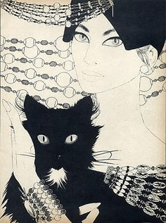 Givenchy 1958 Jewels Baschmakoff Cat Portraitvia
