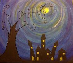 Acrílico Ocaso Azul www.Cuadritosdecolores.bigcartel.com