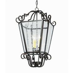 2nd Ave Design Marin 4 Light Outdoor Pendant Finish: Blackwash, Shade Type: Real Mica