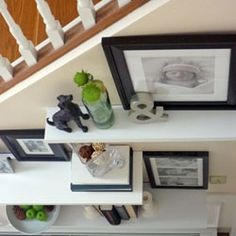 Hall way floating shelves