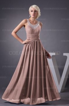 Bridal Rose Cute A-line Scoop Sleeveless Zipper Beading Plus Size Bridesmaid Dresses (Style D06492)