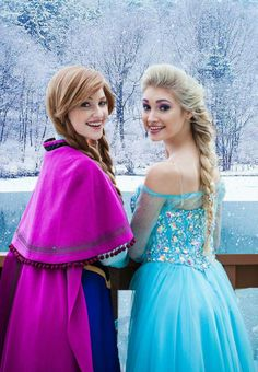 Anna And Elsa  Looks like Britt and Maril!