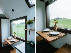 Dining table in front of window - Emerald by Tiny Heirloom