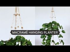 One of the easiest Macrame projects to get started with is a plant hanger. Decorate your house on a budget with 16 easy DIY Macrame plant hangers for beginners! Macrame Wall Hanging Diy, Macrame Hanging Planter, Weaving Wall Hanging, Macrame Plant Holder, Hanging Planters, Macrame Art, Macrame Knots, Macrame Projects, Plant Projects
