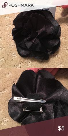 Black silk flower barrette / pin Brand new Icing  Accessories Hair Accessories