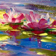 waterlilies loose impressionistic flowers