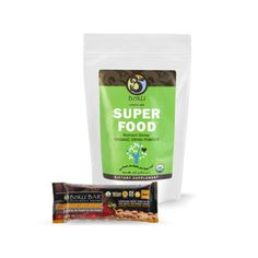 Bõku Super Food is an amazing blend that contains a unique combination of mushrooms, grasses, etc. It's a clean organic nutritional boost.