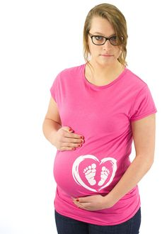 Feet in Heart Maternity T-Shirt Maternity Clothes Two little feet heart love baby foot print maternity Top - side print  SUPER SOFT Stretchy on Etsy, $24.99