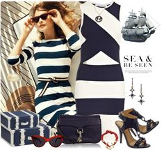 """""""Sea & Be Seen"""" by mharvey ❤ liked on Polyvore"""