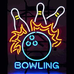 "BOWLING FIRE NEON SIGN-NN5BLFIRE  20"" wide, 24""high, 4"" deep  Spice up the lanes with our Bowling Fire Neon Sign, featuring multi-colored, hand blown tubing supported on a black, finished metal grid. The Bowling Fire Neon Sign can be displayed flat on a wall or in a window or alternately be placed upon a shelf."