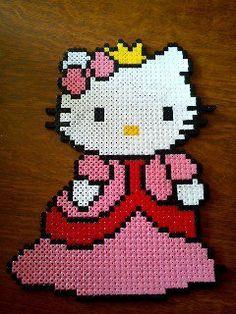 Hello Kitty princess hama perler by La Caverne Créatif