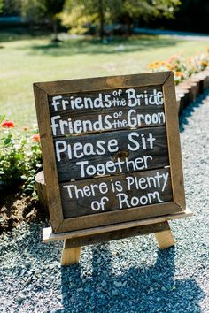 country wedding sign DIY