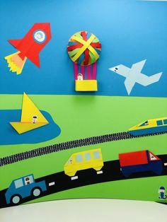 Instructiemuur Voertuigen - Kinderboekenweek 2019 - MeesterSander.nl Spring Crafts For Kids, Art For Kids, Kid Art, Tough Dog Beds, Children's Book Week, Classroom Walls, Paper Plate Crafts, Dot Painting, Art Education