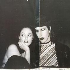 "Rose McGowan & Marilyn Manson by Amanda de Cadenet (Unpublished Image from ""Rare Birds"")"