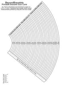 Printable Bracelet Sizer ~ Best Bracelets