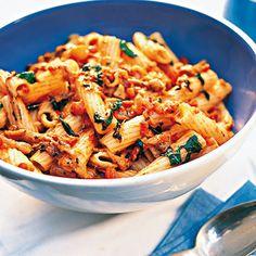Rigatoni+mit+Tomaten+und+Mozzarella+Rezept+|+Küchengötter