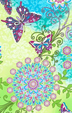 butterfly fabric - Love the colors. Not as much the butterflies and flowers.