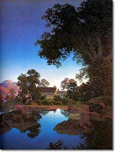 Evening Shadows by Maxfield Parrish