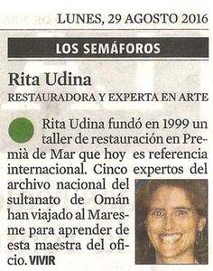 La Vanguardia (Semáforos): punto verde para Rita Udina