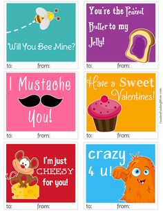 I JUST PRINTED THESE TO STICK IN MY SONS SCHOOL LUNCH TOMORROW FOR VALENTINES DAY! :O)