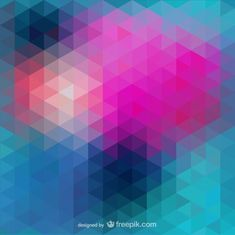 Abstract triangle vector Free Vector