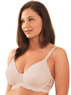 875d2ccb0e Underwire  Molded Seamless Lace-Frame Nursing Bra Nursing Bras by Leading  Lady