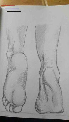 Pencil Art Drawings, Cool Art Drawings, Art Drawings Sketches, Easy Drawings, Sketch Drawing, Realistic Drawings, Leg Art, Arte Sketchbook, Drawing Techniques