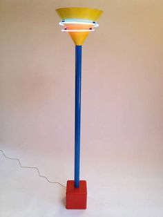 A Memphis knock-off halogen torcherie lamp (from 1stdibs.com)