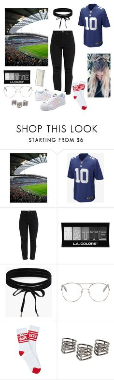 """Football girl❤️⚪️"" by andreeapink ❤ liked on Polyvore featuring NIKE, L.A. Colors, Boohoo, Chloé, adidas Originals, Vans, MANGO, GetTheLook, football and sporty"