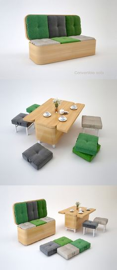The sofa in the dining table