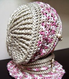 Cats-Rockin-Crochet Free Crochet Patterns: Quick and Easy Polo Style Crochet Neck Warmer Crochet Adult Hat, Crochet Beret, Mode Crochet, Crochet Cap, Crochet Scarves, Crochet Stitches, Knitted Hats, Crochet Patterns, Hat Patterns