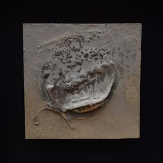 From the new 'What Ripens in Silence' series polyurethane varnish, marble dust and river mud