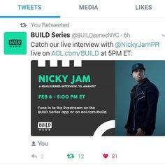 Nicky Jam @nickyjampr: AOL.com/build nos vemos ya mismo @buildseriesnyc Like You, Interview, Hollywood, App, Building, Mistress, When I See You, Buildings, Apps