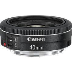 Canon EF 40mm f/2.8 STM Pancake Lens 6310B002 B Photo Video