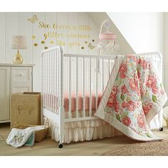 Cream Nursery Bedding Sets Levtex Baby Charlotte Coral and Cream Floral 5 Piece Crib Bedding Set, Quilt, 100 Girl Crib Bedding Sets, Cute Bedding, Girl Cribs, Crib Sets, Pink Bedding, Baby Cribs, Luxury Bedding, Baby Bedding, Unique Bedding
