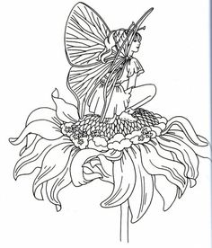 coloring page fairies on Kids-n-Fun. Coloring pages of fairies on Kids-n-Fun. More than coloring pages. At Kids-n-Fun you will always find the nicest coloring pages first! Fairy Coloring Pages, Unicorn Coloring Pages, Pattern Coloring Pages, Adult Coloring Pages, Coloring Books, Dragons, Butterfly Fairy, Fairy Art, Copics