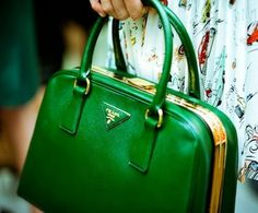 kelly green prada bag.