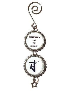 Linemen Live the High Life Ornament Lineman Lineman Gifts