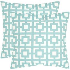 Safavieh Emily 2-Piece 22-In W X 22-In L Turquoise Square Indoor Decor