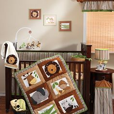 Bedtime Originals - Baby Zoo 4-Piece Crib Bedding Set - #paciplushies would go great in this nursery! :)