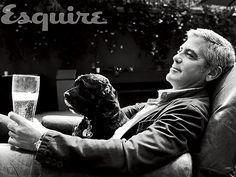 George Clooney and his dog Einstein
