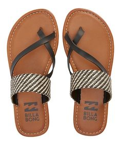 This Off-Black With Luv Sandal by Billabong is perfect! #zulilyfinds