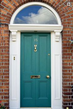 Front Door Colors For Red Brick House Front Door Colors With Red Brick House Search Shade Is Front Door Paint Colors For Best Front Door Color Red Brick House Bright Front Doors, Best Front Door Colors, Green Front Doors, Front Door Paint Colors, Painted Front Doors, Exterior Paint Colors, Paint Colours, Exterior Doors, Entry Doors