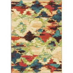 Orian Rugs Vibrance Multi Rectangular Indoor Machine-Made Novelty Area Rug (Common: 7 X 10; Actual: 6.58-Ft W X 9.67-Ft